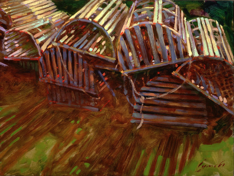 Nova Scotia 2001. 12 X 16 in. oil on prepared board. copyright Brent Lynch