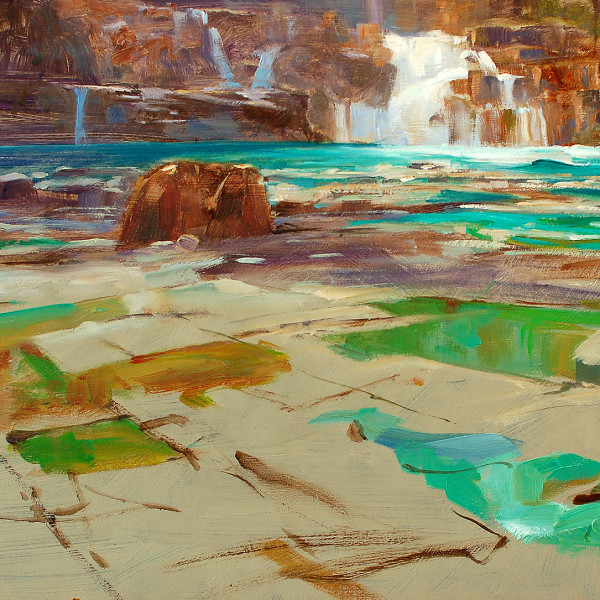 Strathcona Provincial Park, 12 X 16 in. oil on prepared board.