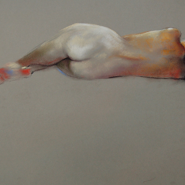 'Nude Reclined 56' Pastel on Bainbridge paper. copyright Brent Lynch