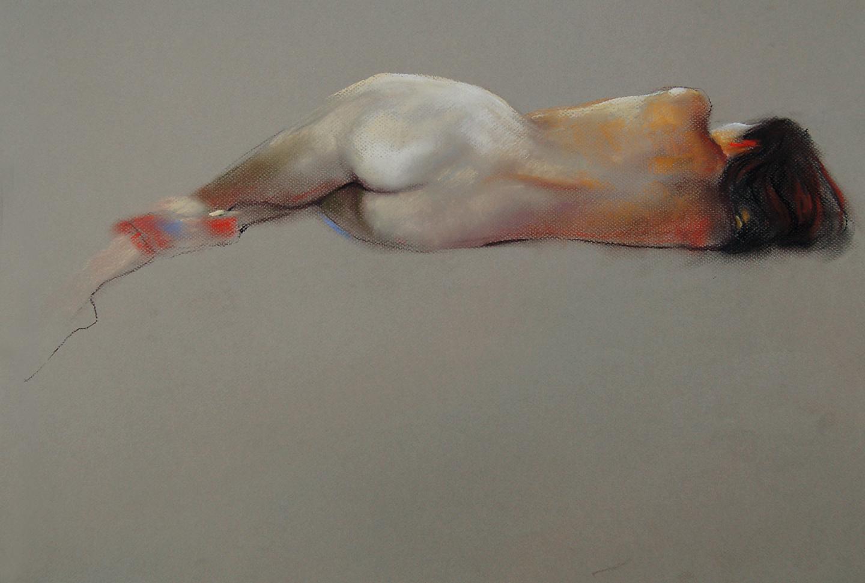 'Nude Reclined 56' Pastel on Bainbridge paper. copyright Brent Lynch