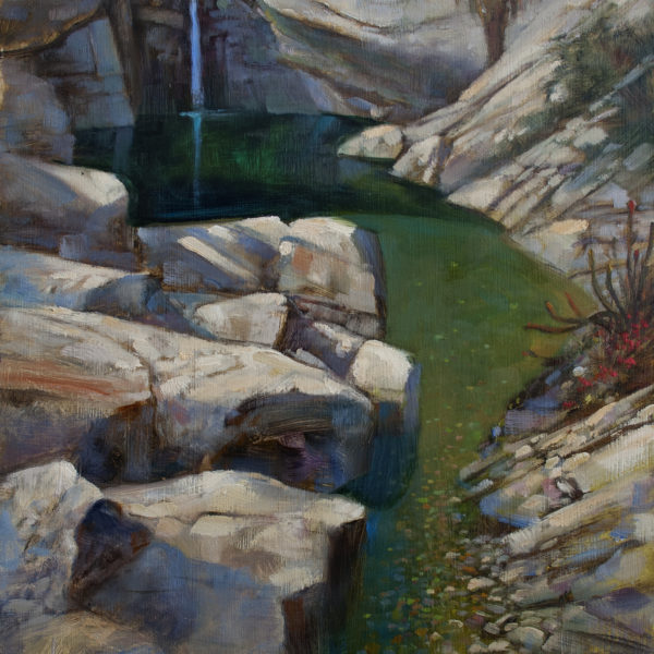 'Canyon Clear Water' 18 X 24 in oil on prepared board
