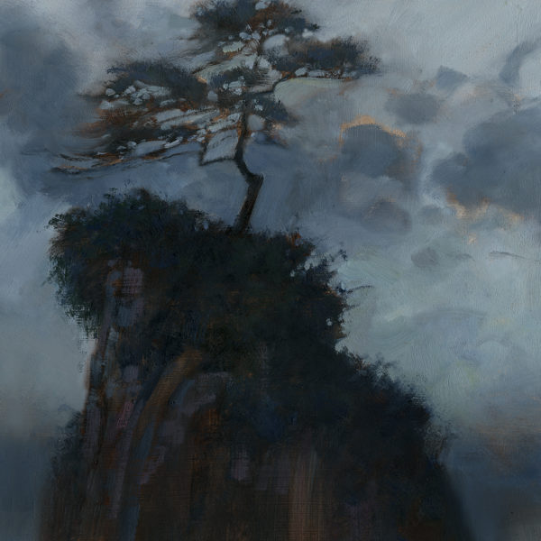 'Tree On Stack' 12 X 12 in oil on prepared board