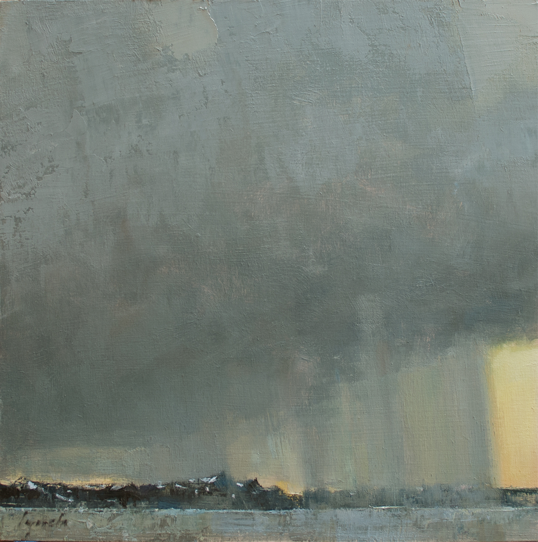 'All Along The Watchtower' 12 X 12 in. oil on prepared board