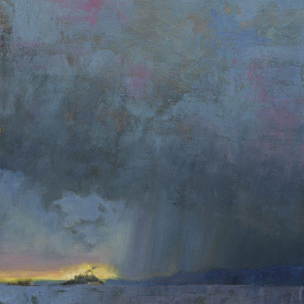 'Fire and Rain' 12 X 12 in. oil on prepared board