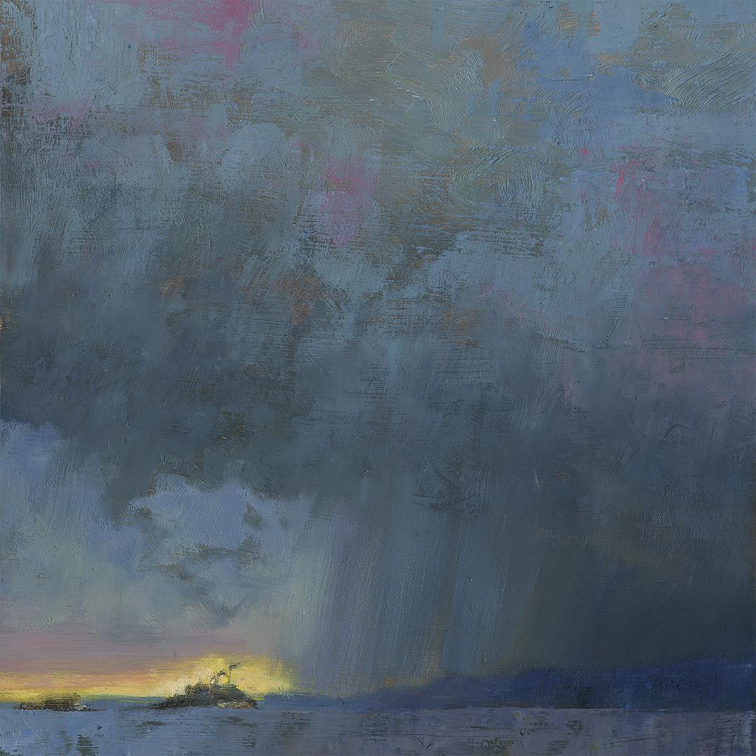 'Fire and Rain' 12 X 12 in. oil on prepared board
