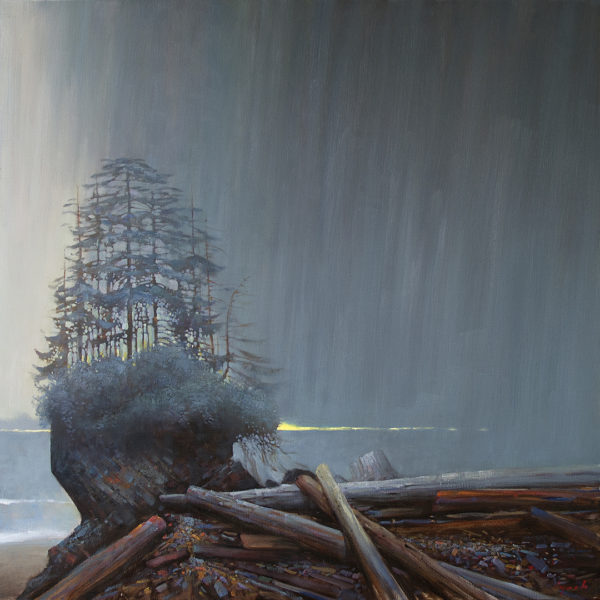 'Stack In Rainstorm' 48 X 48 in. oil on canvas